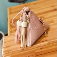 Ready Stok-JTF208-pink Tas Triangular/Ketupat Wanita Import
