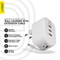 UNEED Smart Travel Charger Fast Charging 3 USB Port - UCH110