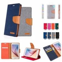 Samsung J1 2016 flip cover case canvas goodspery mercury flip dompet