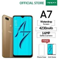 OPPO A7 SMARTPHONE 4GB/64GB Long Lasting Battery (Garansi Resmi) GOLD