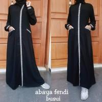 Abaya Gamis Bordir Fendi Busui Dress Muslim Fashion Style - DABShop