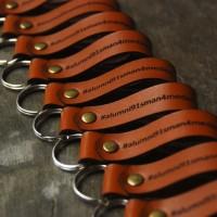 Gantungan Kunci Kulit Custom / Leather Keychain Ring