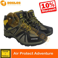 SEPATU GUNUNG AIR PROTEC ADVENTURE CORAL YELLOW SHOES HIKING OUTDOOR