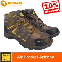 SEPATU GUNUNG AIR PROTEC ARIZONA BROWN SUN SHOES HIKING OUTDOOR