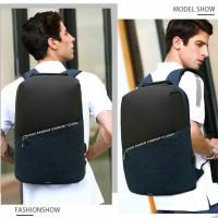 POSO Capsule Smart Tas Ransel Backpack Pria USB PORT Anti Maling PS627 - Hitam