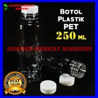 Botol Plastik PET Tabung Almond Kemasan 250 ml