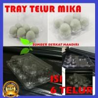 Tray Telur - Egg Tray - Mika Telur Isi 6 Butir Dengan Pengunci