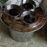 dandang stainless 3 lubang thai tea free centong air