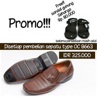 Promo sepatu pria + sepatu formal kulit asli