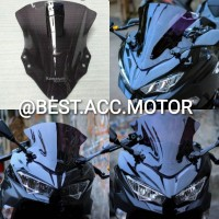 Windshield/ Visor Ninja 250 Fi New 2018 CLEAR & SMOKE Aksesoris Motor