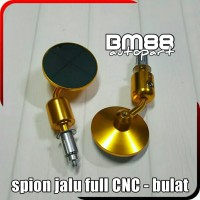 Spion Jalu Full CNC Model Bulat - Bar End Mirror Motor