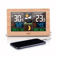 New FanJu FJ3378 Digital Alarm Clock Weather Station Wall