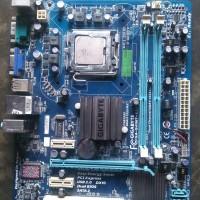 Motherboard g41 mobo g41 gigabyte plus prosesor c2d 7200