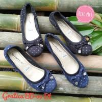 Sepatu wanita Flat shoes Gratica Bd-09 Bt sol full karet - Hitam, 40