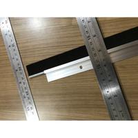 DoorSeal Penutup Celah Pintu Lis Aluminium Seal Bulu Sikat Tutup Celah