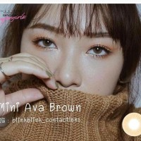 ORIGINAL SOFTLENS Kitty Kawaii Mini Ava Brown Coklat