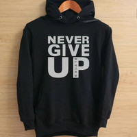 JAKET HOODIE NEVER GIVE UP CHAMPION LEAGUE M.SALAH LIVERPOOL