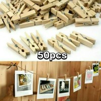 (50pcs) Wooden Clip - Klip Jepitan Kayu - Dekorasi pesta / photo foto