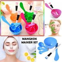 Rainbow Mangkok Masker SET 4 in 1 / Kuas dan Mangkuk Masker – Random