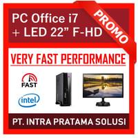 """PC Rakitan Core i7 Lengkap (Siap Pakai, untuk Professional) - 22"""""""