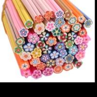 MAOstore Fimo stick nail art hiasan kuku hp case 3D motif bunga