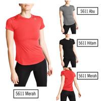 PREMIUM Baju Sport Wanita Nike Adidas Yoga Kaos Lari Gym Baju Training