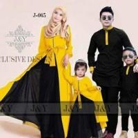 baju muslim anak couple kuning import