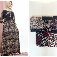 gamis batik dress umbrella longdress batik gamis jumbo busui rayon