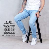 Skinny Jeans Blue Sky Whisker - Biru Muda, 34
