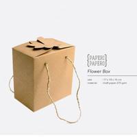 Flower Box isi 2 Toples - Parcel Kotak Kue Kering 250 Gram