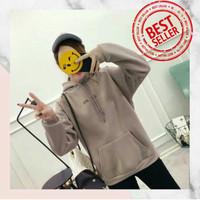 jaket Hoodie Wanita 'Oh Yes' Series Premium Cotton Fleece