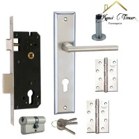 Paket combo hemat 5 in 1 gagang kunci pintu handle rumah 368