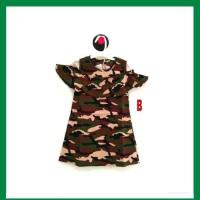 Baju Dress Anak Bayi Cewek / Perempuan Army Abri Tentara ( 3 - 5 th )