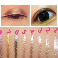 Eyeshadow Dengan Glitter Warna Emas Perunggu Profesional Kosmetik