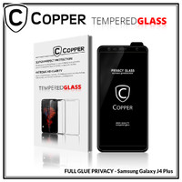 Samsung J4 Plus - COPPER Tempered Glass PRIVACY / ANTI SPY (Full Glue)