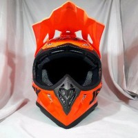 helm cross JPX Motor fox 1 Warna Orange metalik