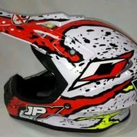 Helm cross JPX Motif benderan Warna pearl kilat