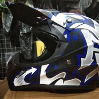 Helm cross jpx Grafity Warna Putih Hitam