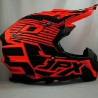 Helm cross JPX Helm Full face Fox 1 doof Red