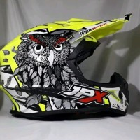Helm cross JPX Helm Full face X13 Sevenday Glossy yellow
