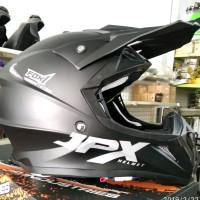 Helm cross jpx motif fox 1 doof hitam