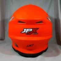 Helm cross JPX Motif Fox 1warna merah Doof