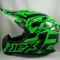 Helm cross JPX Helm Full face Fox 1 Doof Green