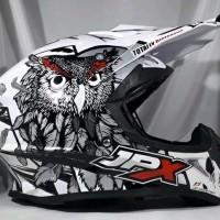Helm cross JPX Helm Full face X13 Sevenday Glossy White