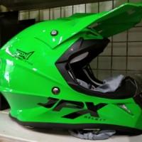 Helm cross jpx fox 1 warna Hujau Glossy