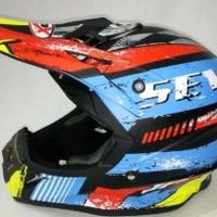Helm cross JPX Motif seven Warna kilat