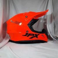 Helm cross jpx FOX 1 Warna Orange Kilat