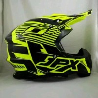 helm cross JPX Motif X12 warna Kuning Doof