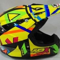 Helm cross JPX Helm Full face Fox 1 Glossy Yellow