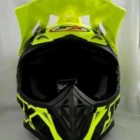 helm cross JPX motif Fox warna kuning Doof
